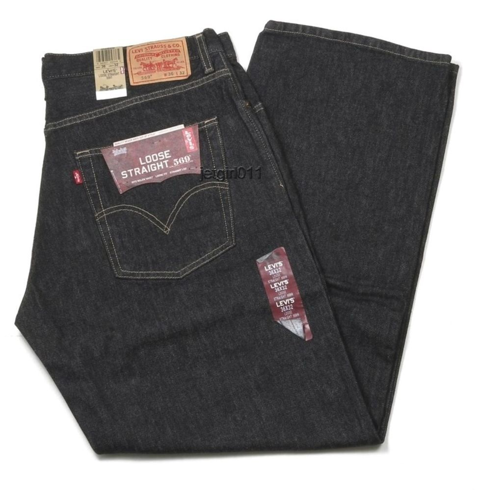 """Mens Levis Loose Straight 569 Special Dye Finish Black Size 36"""" x 32"""" New #Levis #LooseStraight"""