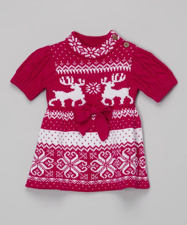 b3d13820d Look at this Maria Elena Fuchsia Norfolk Sweater Dress - Toddler on ...