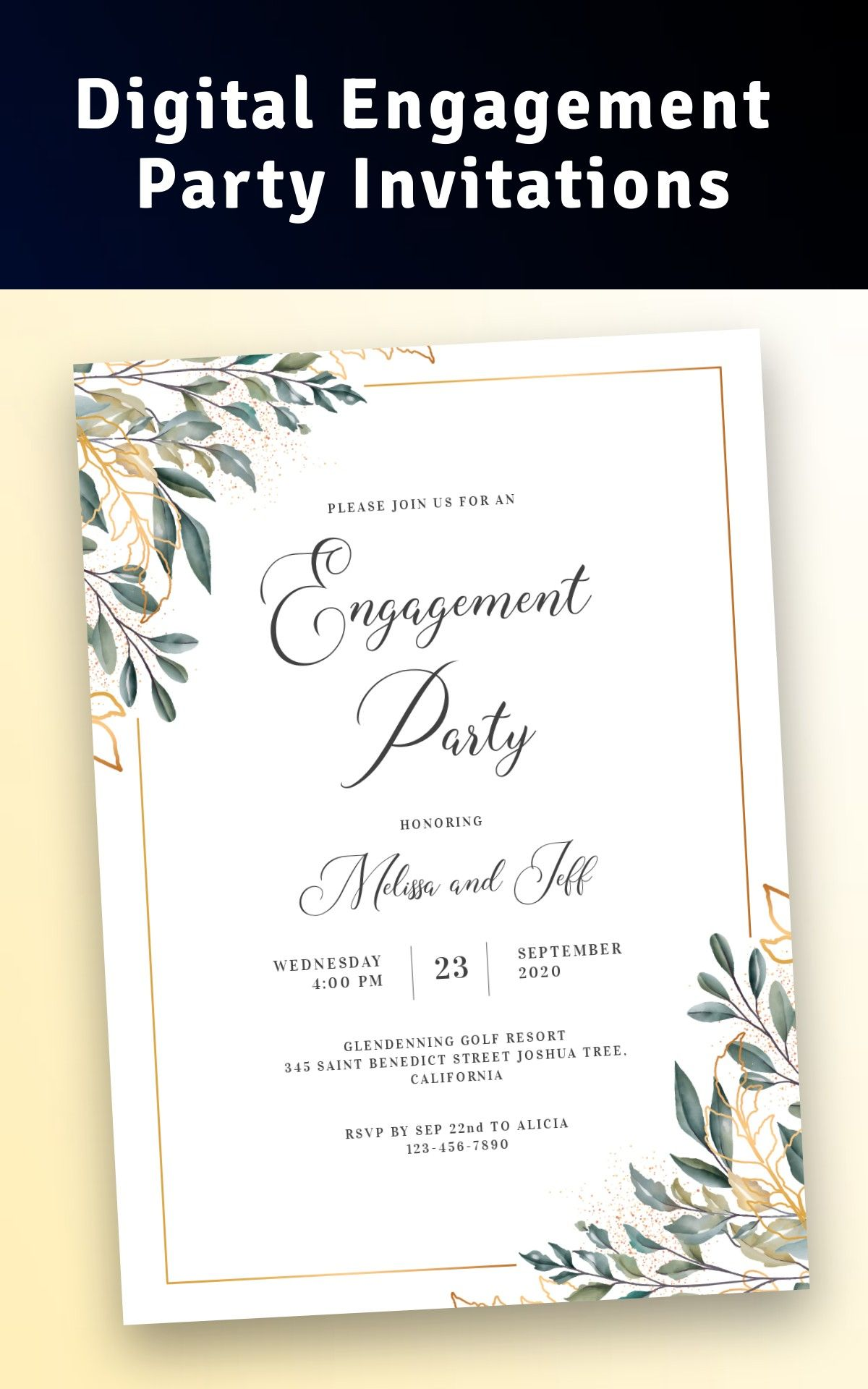 Digital Engagement Party Invitations Create Beautiful Invitation Online Engagement Party Invitations Engagement Party Invitations Engagement Invitation Cards