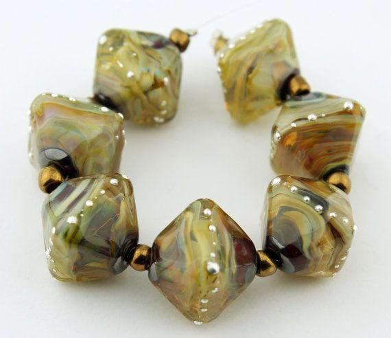 Artisan Glass Lampwork Beads Set SRA  by StoneDesignsbySheila