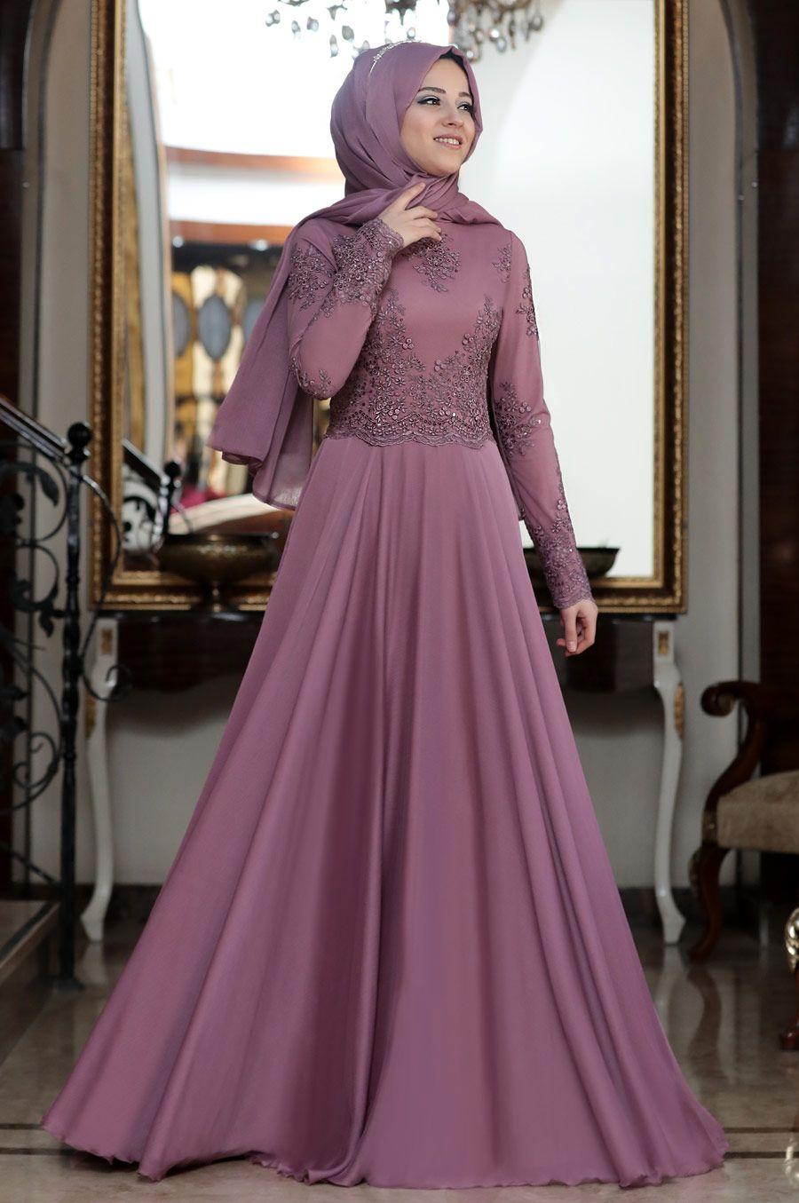 9819edafe612c Al-Marah - Tılsım Tesettür Abiye in 2019 | Hijab style | Elbiseler ...