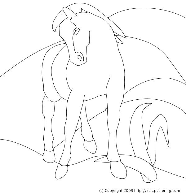 Blue Horse   Franz Marc coloring page   Franz marc, Blue ...