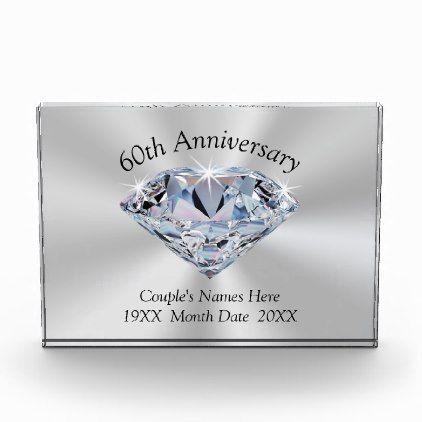 Diamond Wedding Anniversary Gifts Personalised Award Cyo Diy Gift Idea Presents Party Celebration