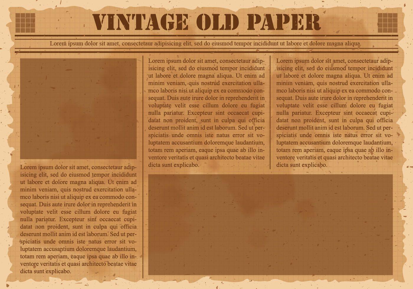 Old Newspaper Free Vector Art 1 682 Free Downloads Regarding Old Blank Newspaper Template In 2020 Newspaper Template Newspaper Template Word Blank Newspaper
