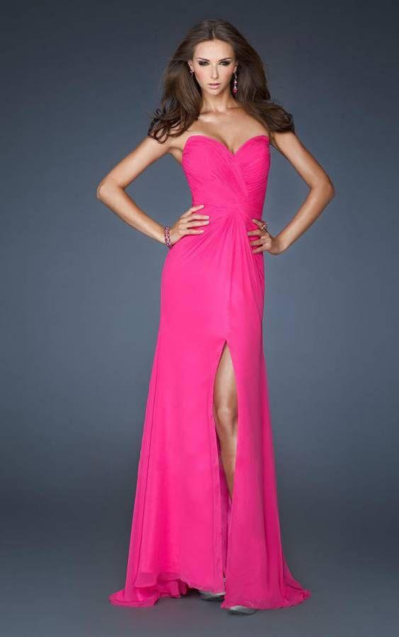 Excepcional Vestido De Fiesta Rojo La Femme Ideas Ornamento ...