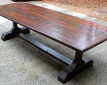 Custom 10ft (120 inches) Rustic Farmhouse Table/ Farm Table ...