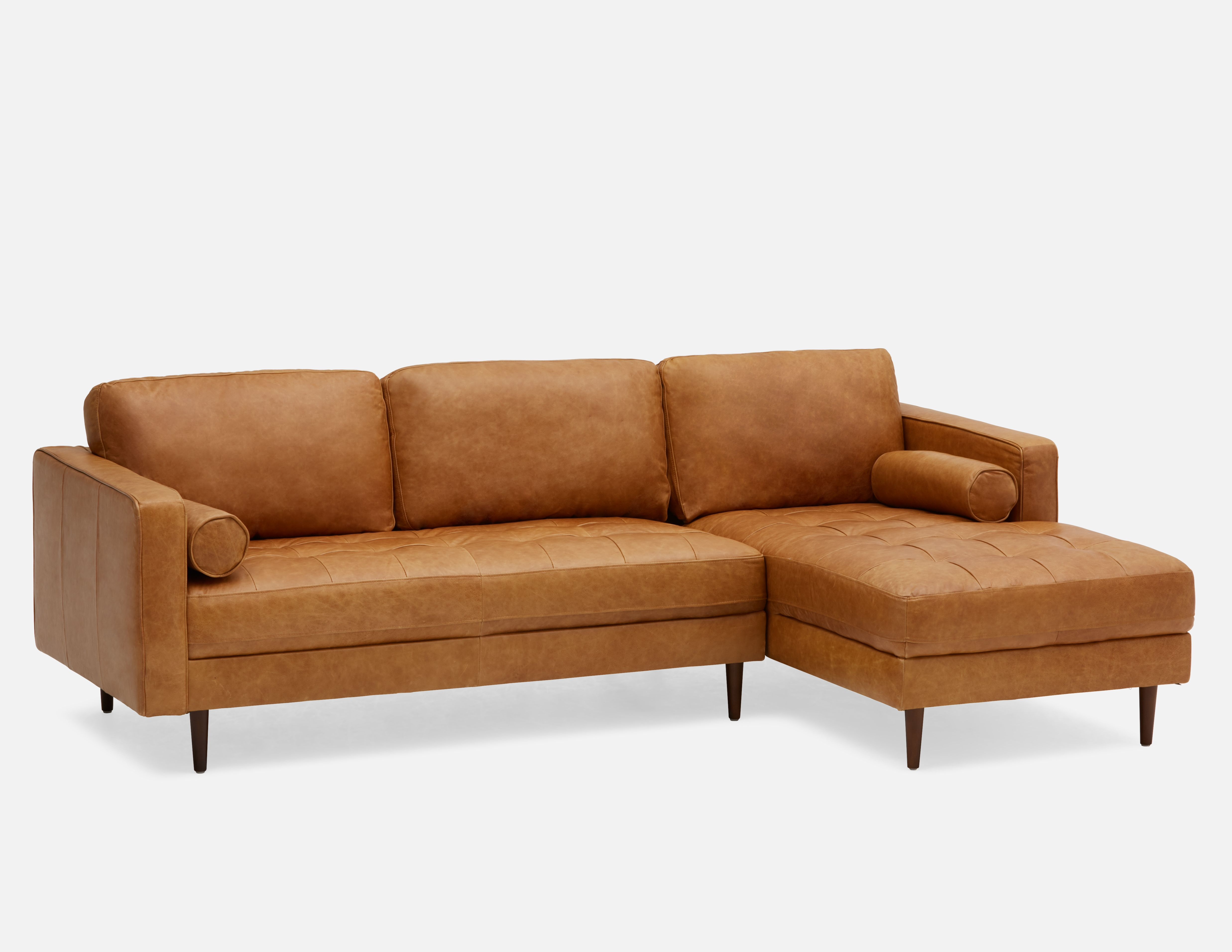 Kinsey Copper Right Facing 100 Leather Sectional Sofa Leather Sectional Sofa Leather Sectional Leather Sectional Sofas