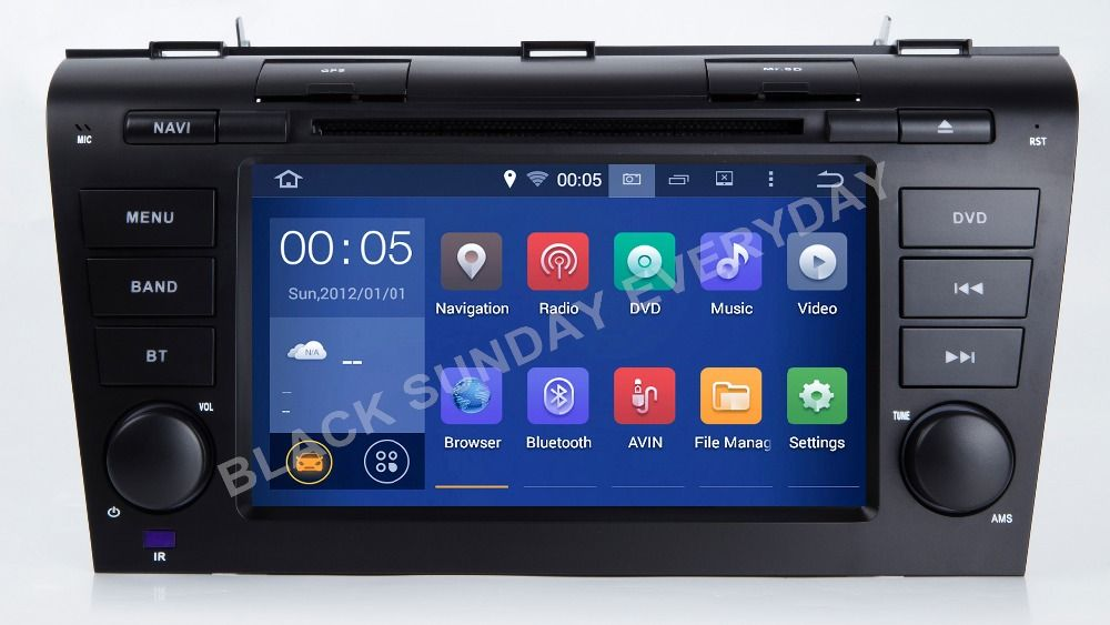 Android 5.1.1 Two Din 7 Inch Car DVD Player For MAZDA 3