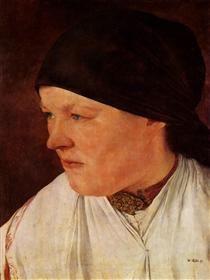 Kopf eines Bauernmädchens - Wilhelm Leibl