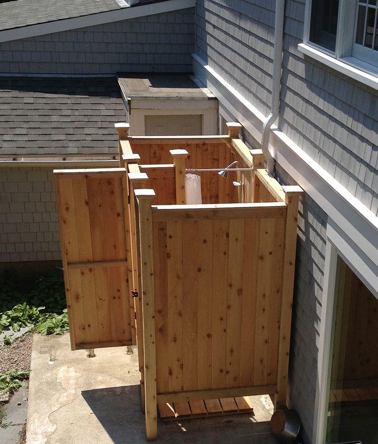 Cedar Outdoor Showers Made On Cape Cod Outdoor Shower