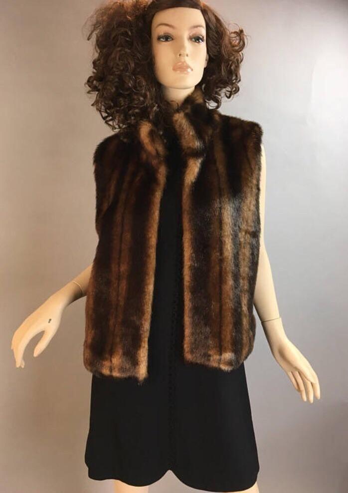 Vintage 90s Vest// Faux Fur Vest// Grunge Vest L/XL (F1 ...