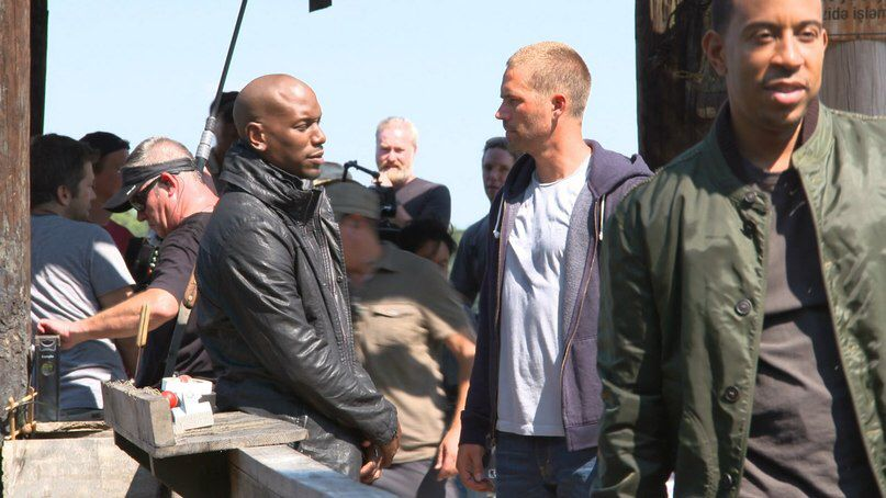 Paul and Tyrese on set of F7