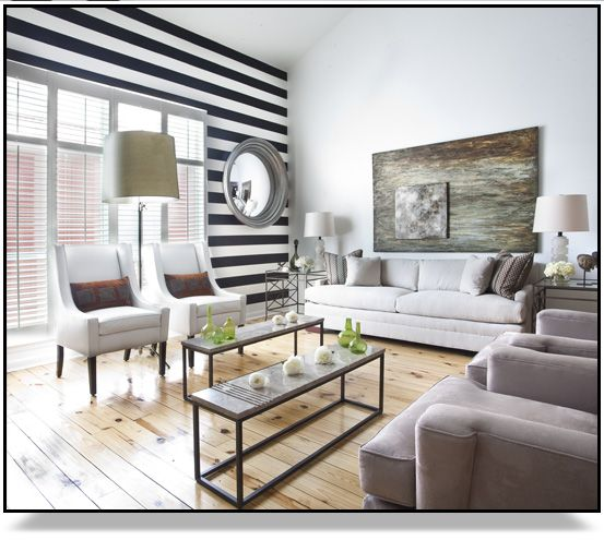 White Accent Wall: A Bit Strong, But The Horizontal Contrast Works Better
