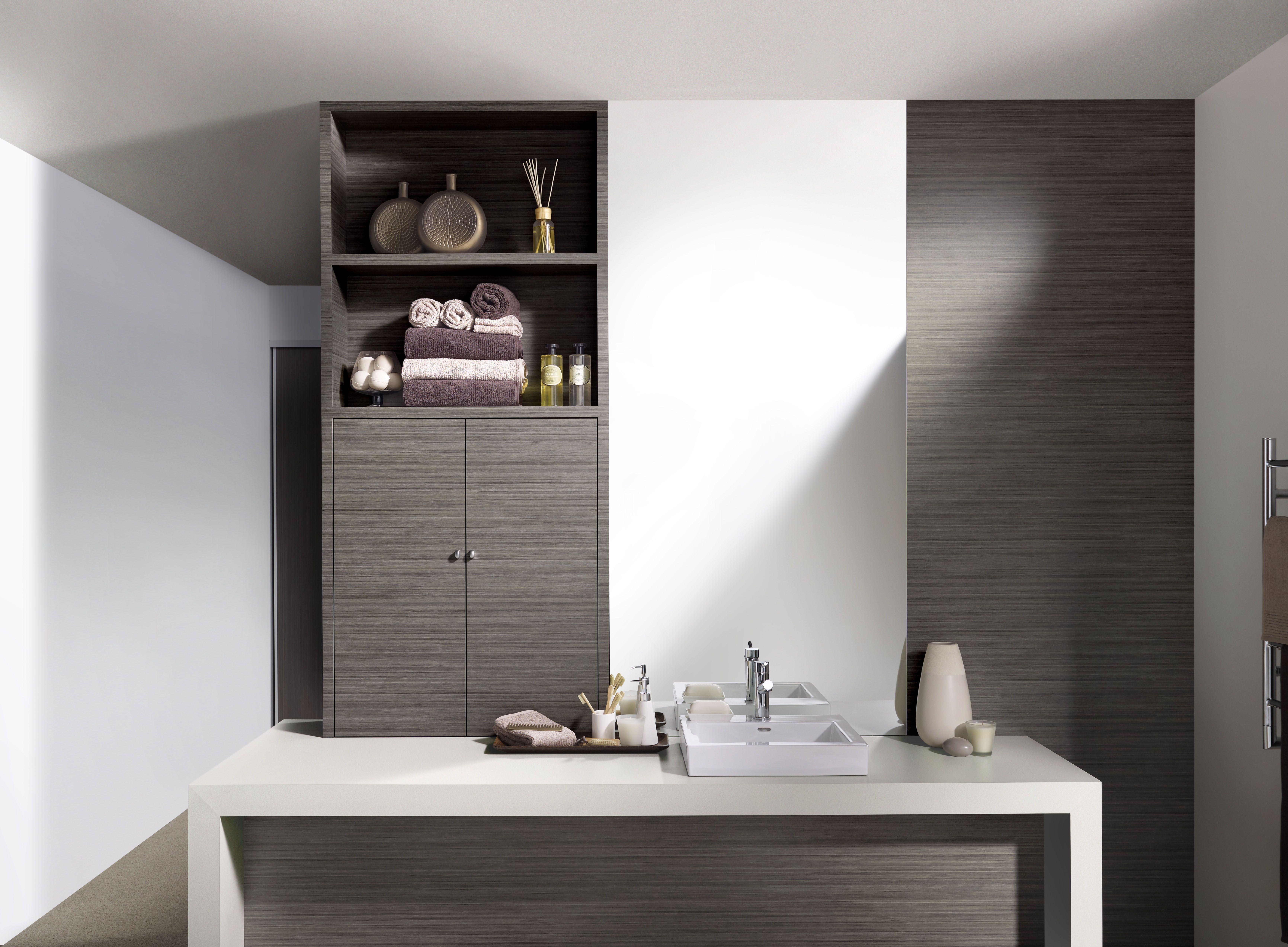Bathroom cabinets Formica Melamine Doors (square edge profile ...