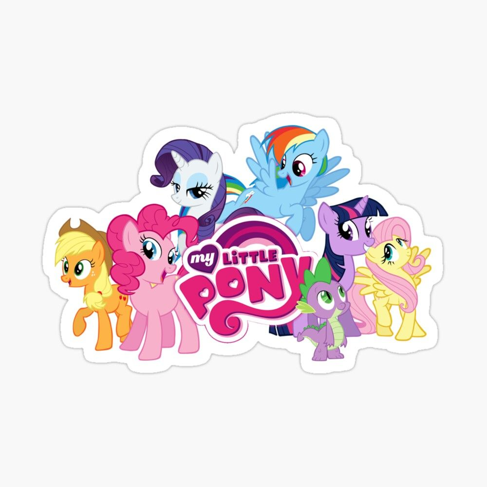 My Little Pony Stickers Glossy Sticker By Asma A Esmail In 2021 My Little Pony Stickers My Little Pony Printable My Little Pony Drawing