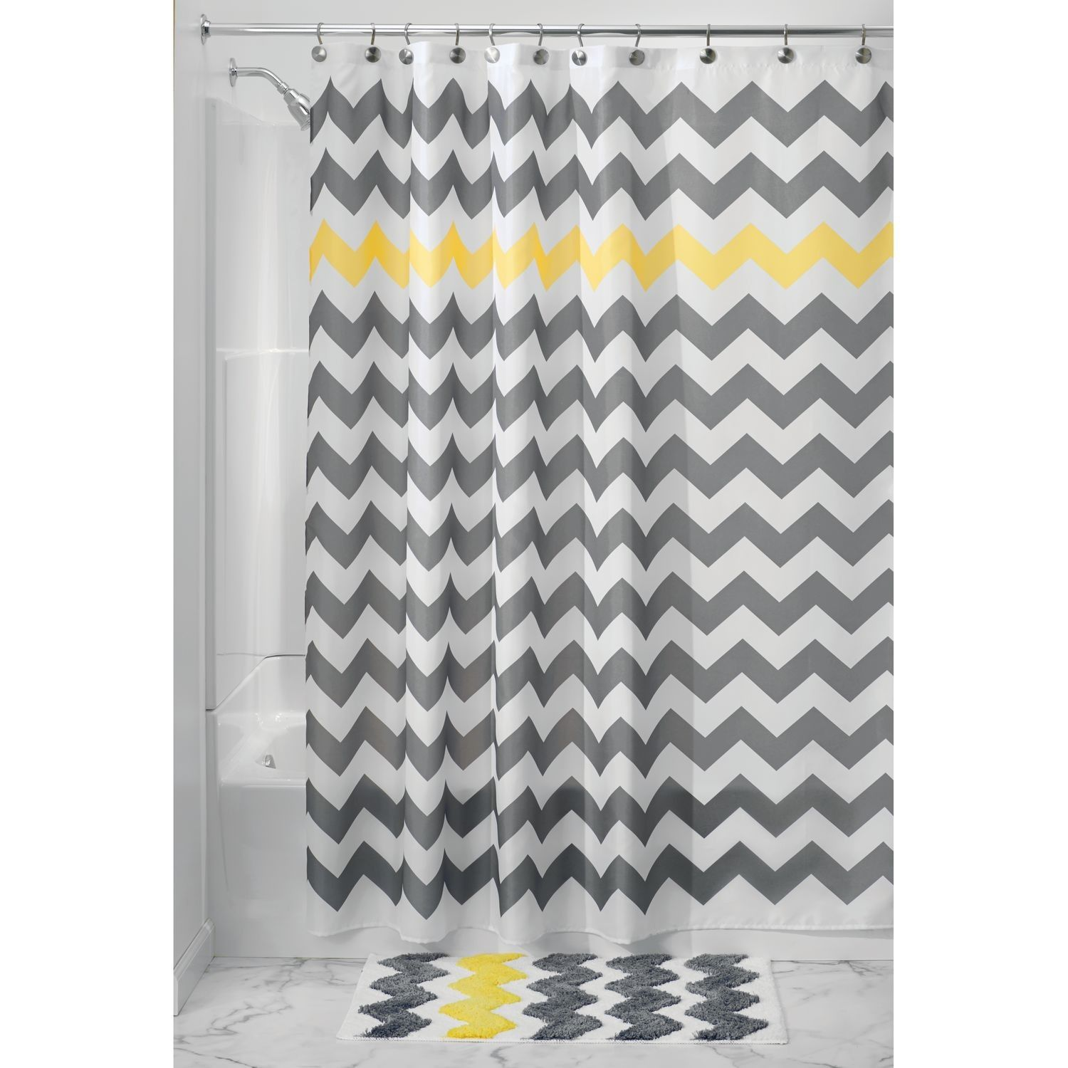 Chevron shower curtain products