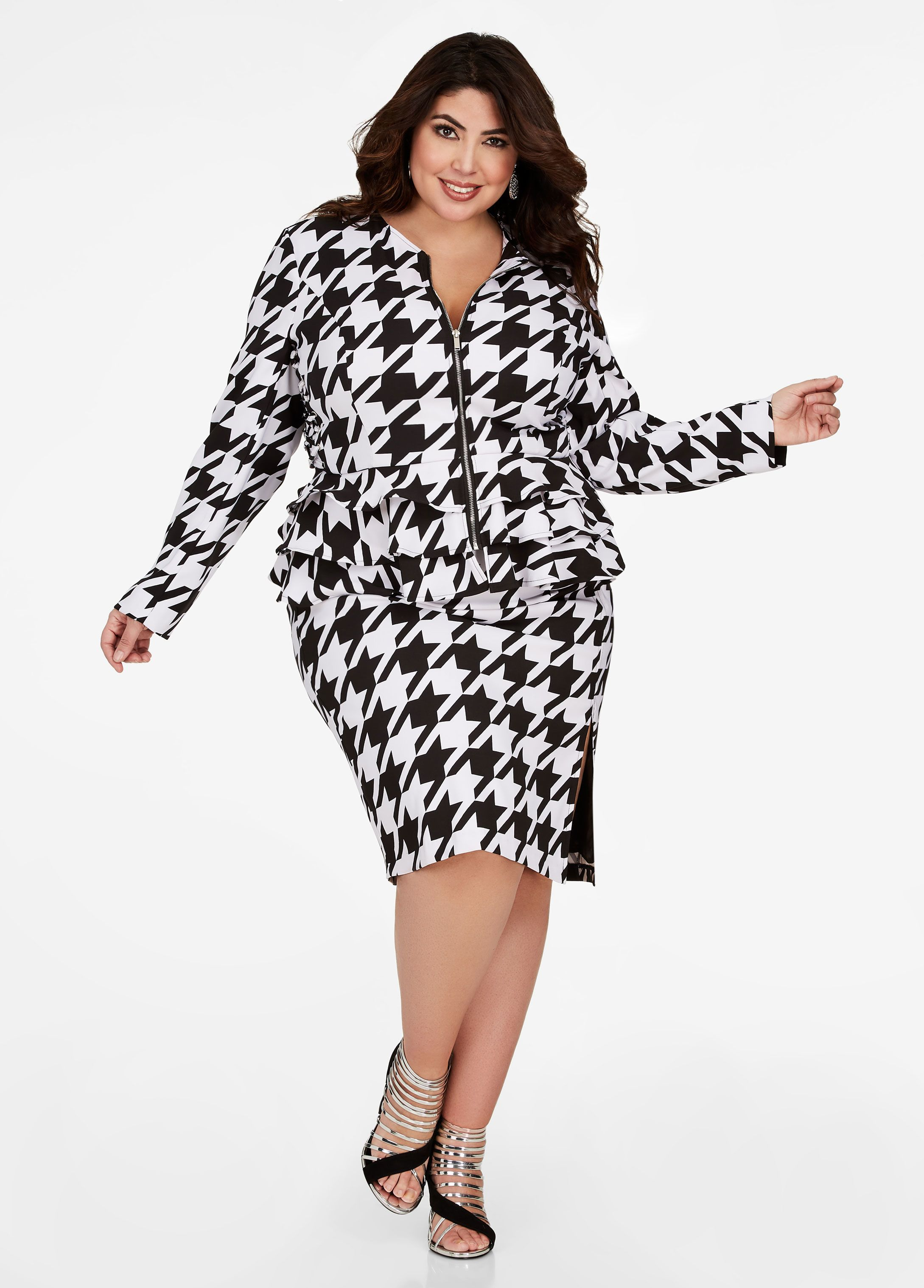 a2adb03fb2 Houndstooth Pencil Skirt - Ashley Stewart. Houndstooth Pencil Skirt - Ashley  Stewart Plus Size Suits ...