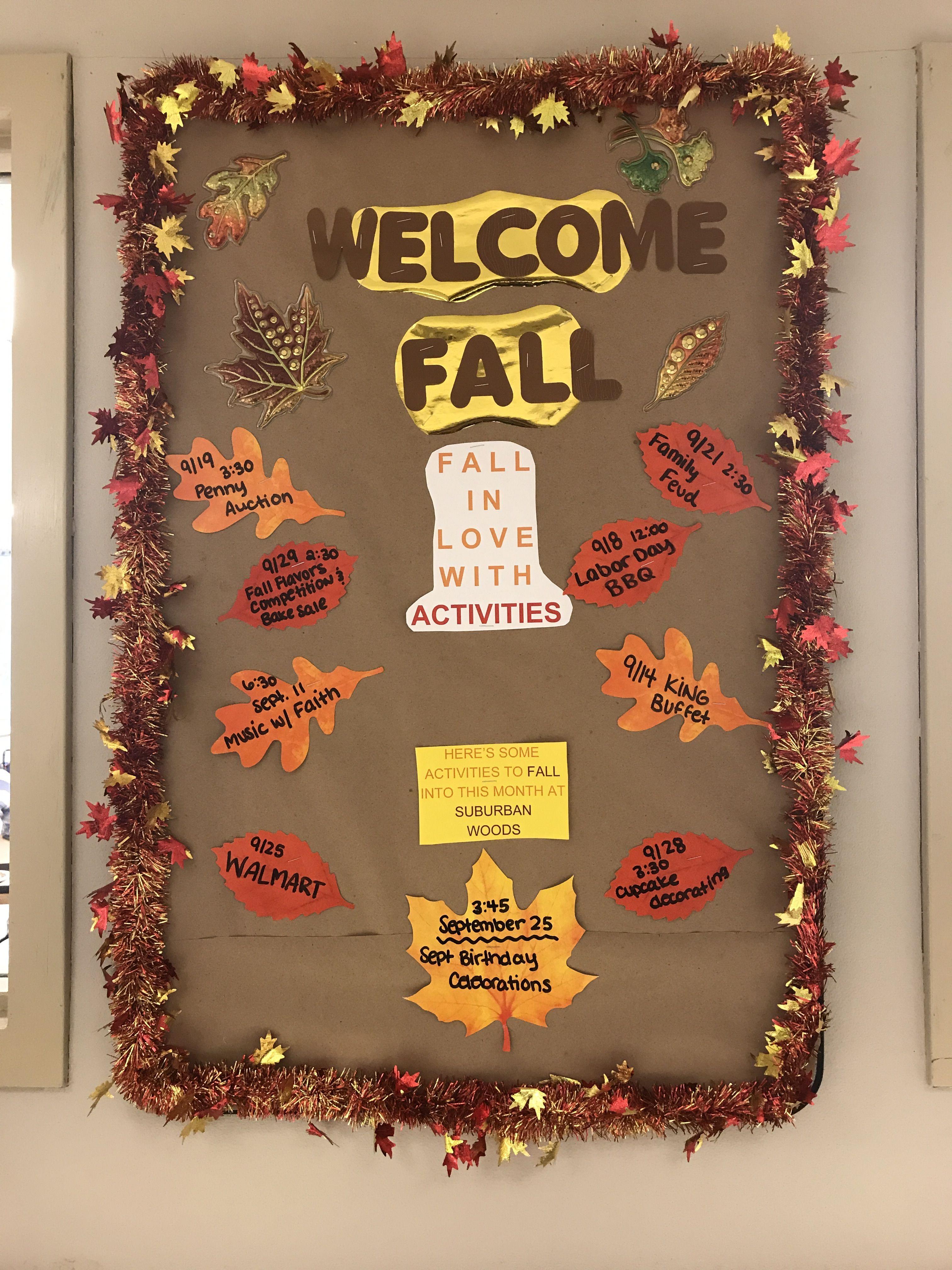 Fall Bulletin Board For Nursing Home Nursing Home Crafts