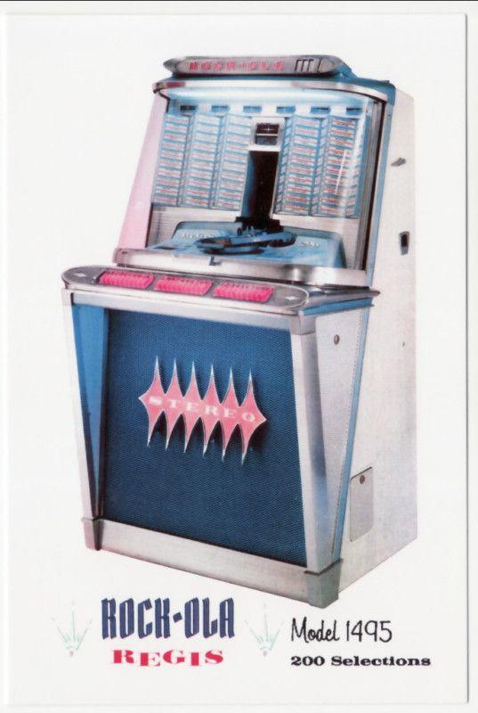 Postcard ROCK-OLA Regis Mod 1495 200-Selection Juke Box
