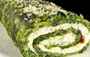 Torta de espinafres com brócolos