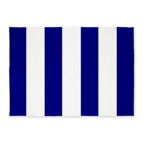Navy Blue And White Striped 5x7 Area Rug On Cafepress Com Blue And White 5x7 Area Rug Striped Rug