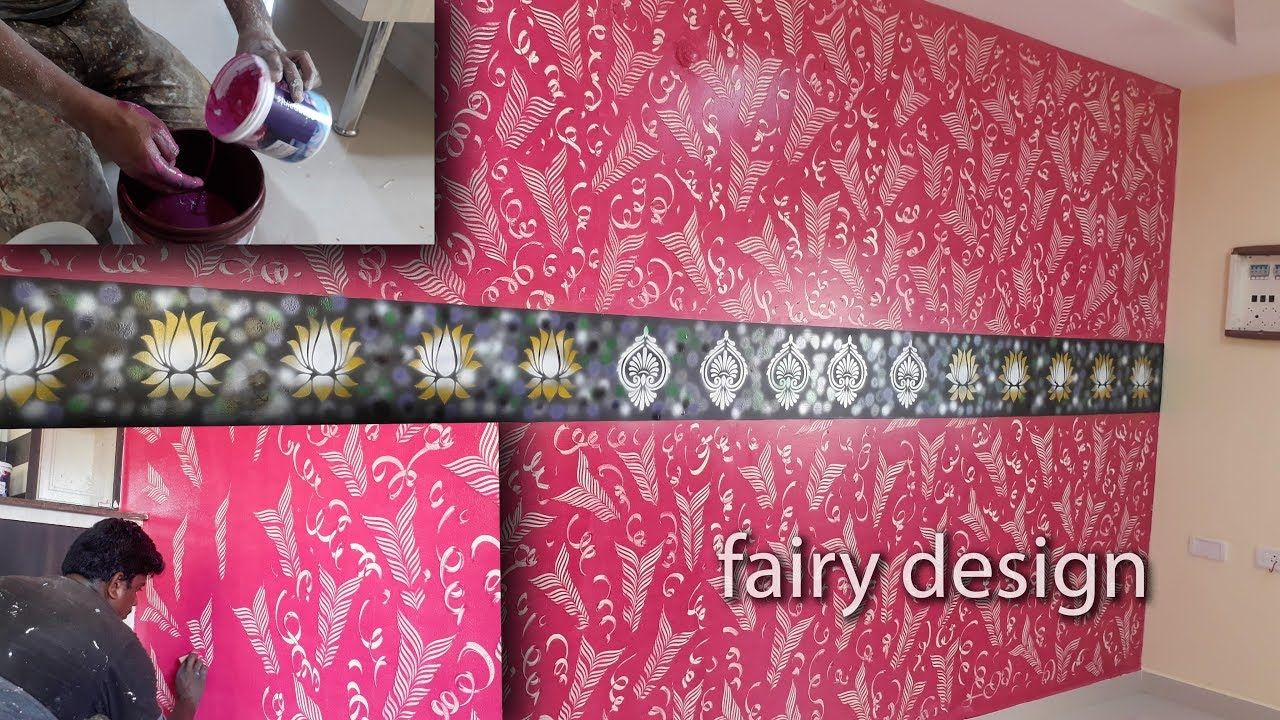Best Wall Texture Painting Services In Bangalore Mumbai Hyderabad And Other 12 Cities Of India Superv Wall Texture Design Textured Walls Pink Painted Walls