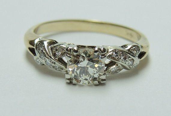 Antique Edwardian Engagement Ring by EricOriginals on Etsy