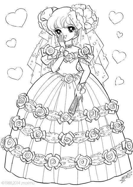 Grote Kleurplaten Prinsessen.Shojo Nurie Happy Time Coloring Pages Kleurplaten