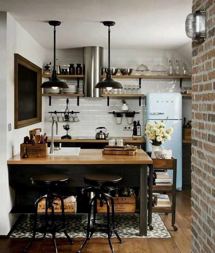 10 Clever Ideas For Small Kitchen Decoration Small Apartment Kitchen Small Modern Kitchens Interior Design Kitchen