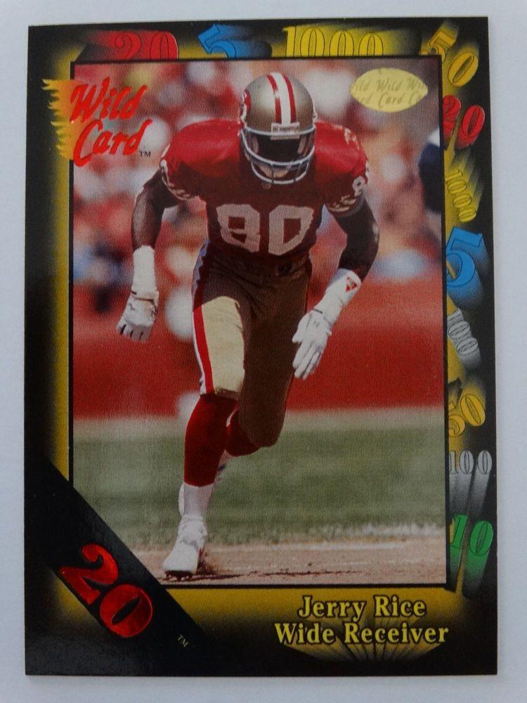 1991 wild card 73 jerry rice san francisco 49ers 20