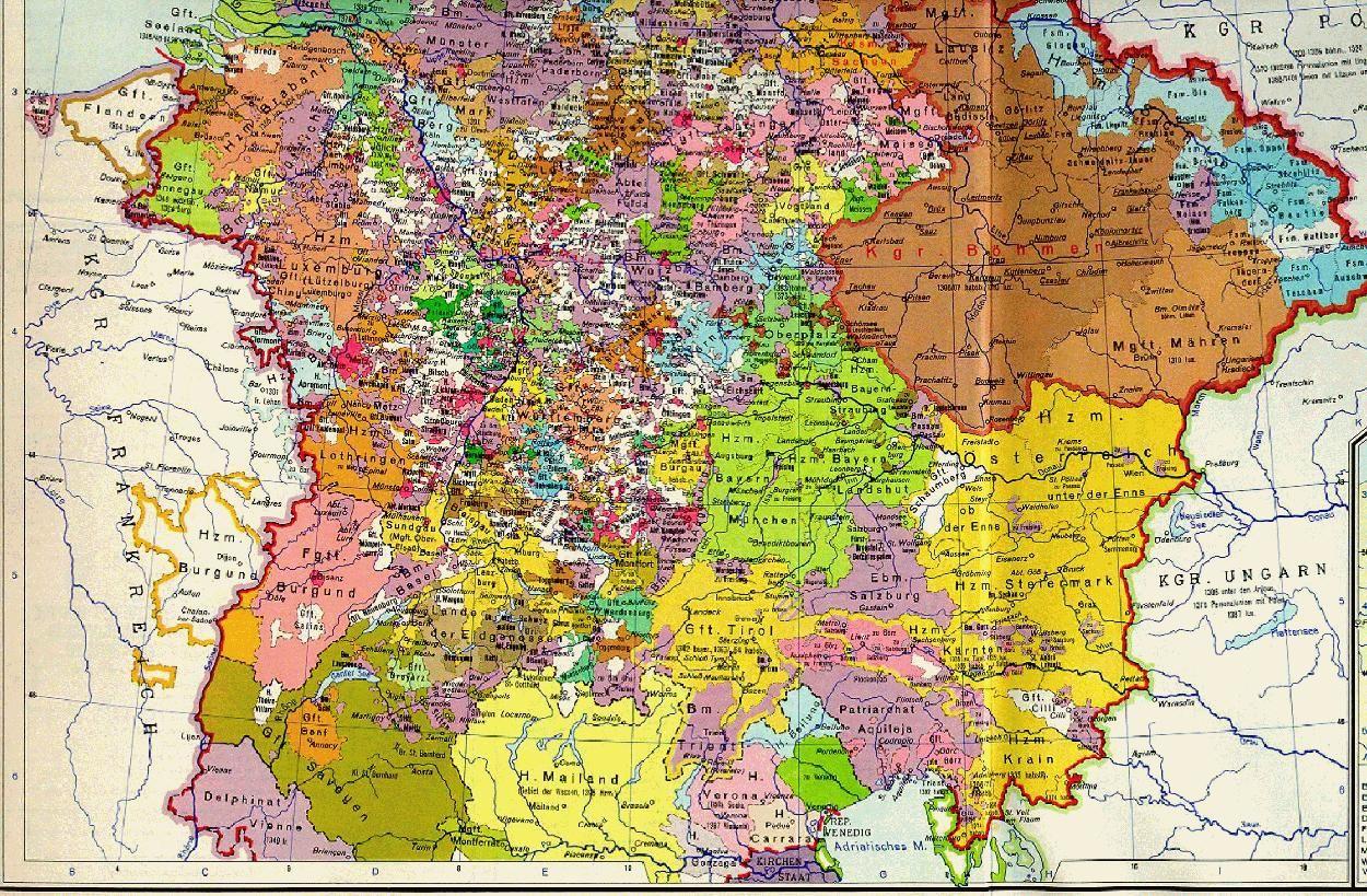 Deutschland Zur Zeit Karls Iv 1378 Der Suden Europaische