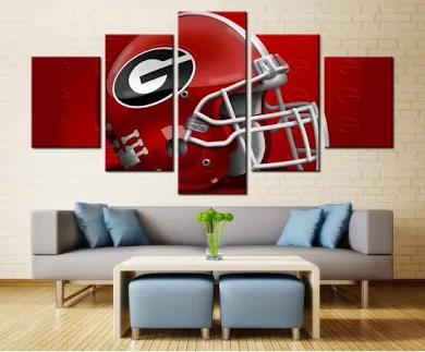 Hand Made Uga Wall Decor Google Search Bulldog Decor Georgia Bulldogs Decor Football Wall Art