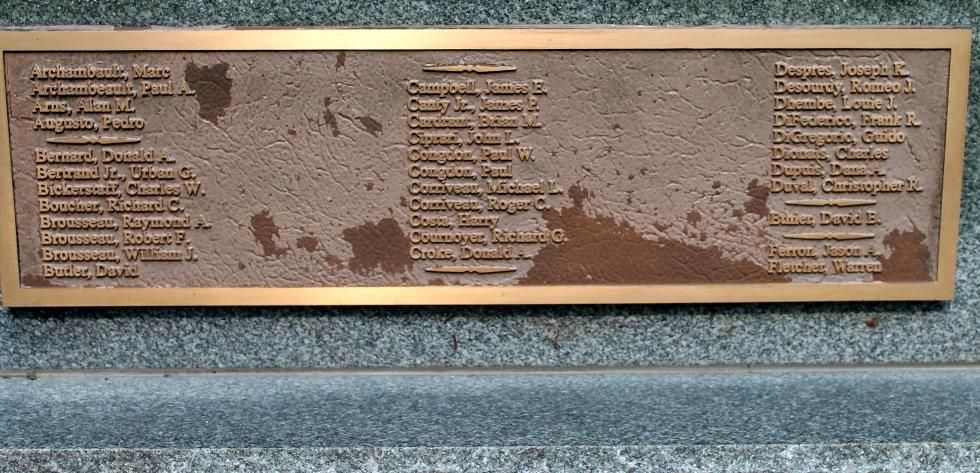 Southbridge Massachusetts Vietnam War Veterans Memorial Veterans