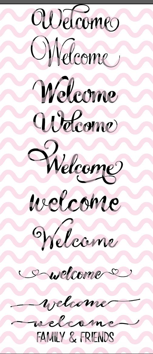 Welcome SVG, Welcome Sign SVG, SVG, Dfx, Png, Cut File ...