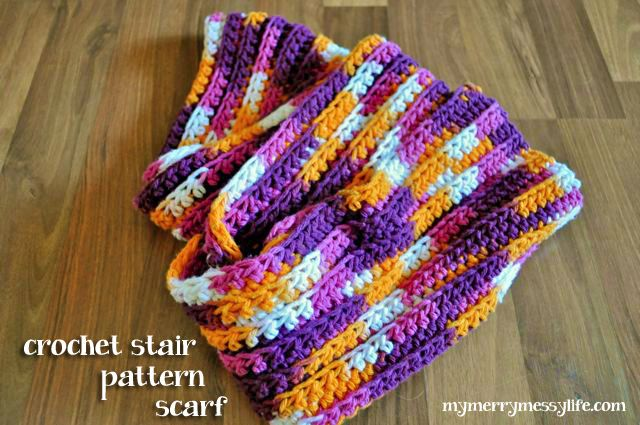 Ribbed Stair Pattern Crochet Scarf Free Pattern Thats Perfect
