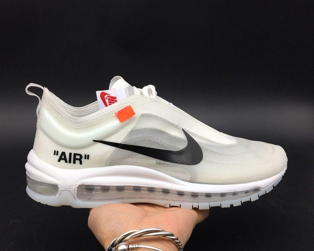Nike X Off White Air Max 97 White Black Sneakers Men Fashion Sneakers Fashion Stylish Sneakers