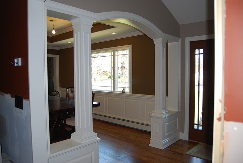 Wainscoting Panel Beaded Raised Panel Dining Room Oakdale Long Island NY  New York Wainscoting America 7735 2