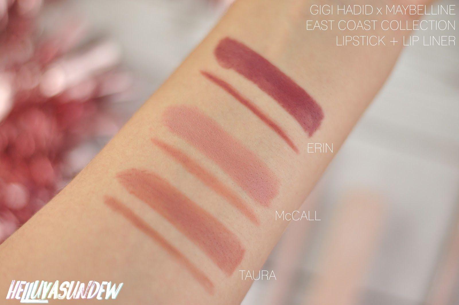 Gigi Hadid X Maybelline East Coast Lipstick Kits Review Taura