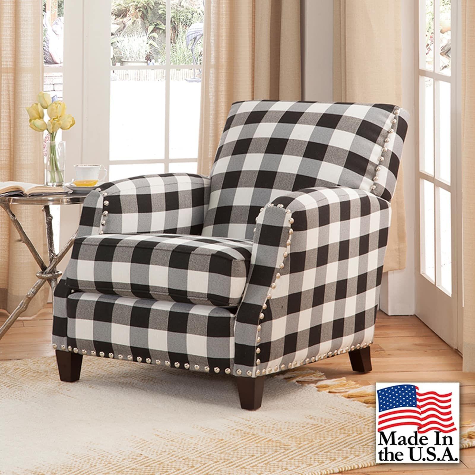 Best Holland Black And White Plaid Chair Plaid Chair Plaid 400 x 300