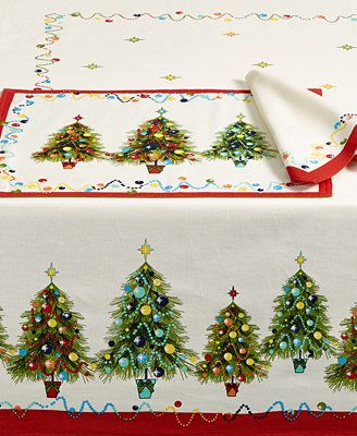 Fiesta Christmas Tree 52 x 70 Tablecloth - Table Linens - Dining u0026 Entertaining - Macyu0027s : fiesta dinnerware christmas tree collection - Pezcame.Com
