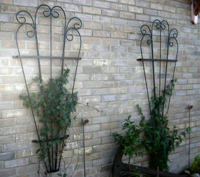 Trellis Fan Attractive Strong Solid Wrought Iron Garden Scroll