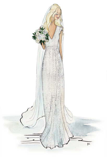 Custom Bridal Illustration Is Perfect For Wedding Gifts Wedding Gift Package Includes 1 Illustration Of The Bride Wedding Dress Sketches Bride Custom Bridal