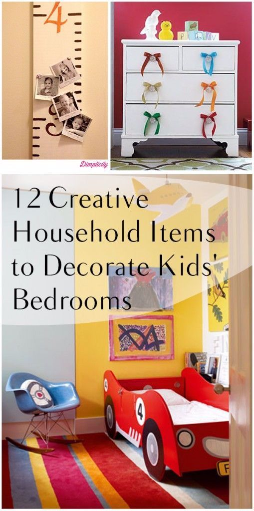 12 Creative Household Items to Decorate Kids' Bedrooms | How To Build It