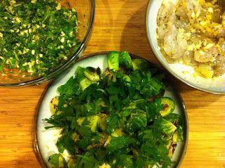 Pamela & Lainey's Kitchen: Garlic and Lemon Shrimp with Braised Brussels…