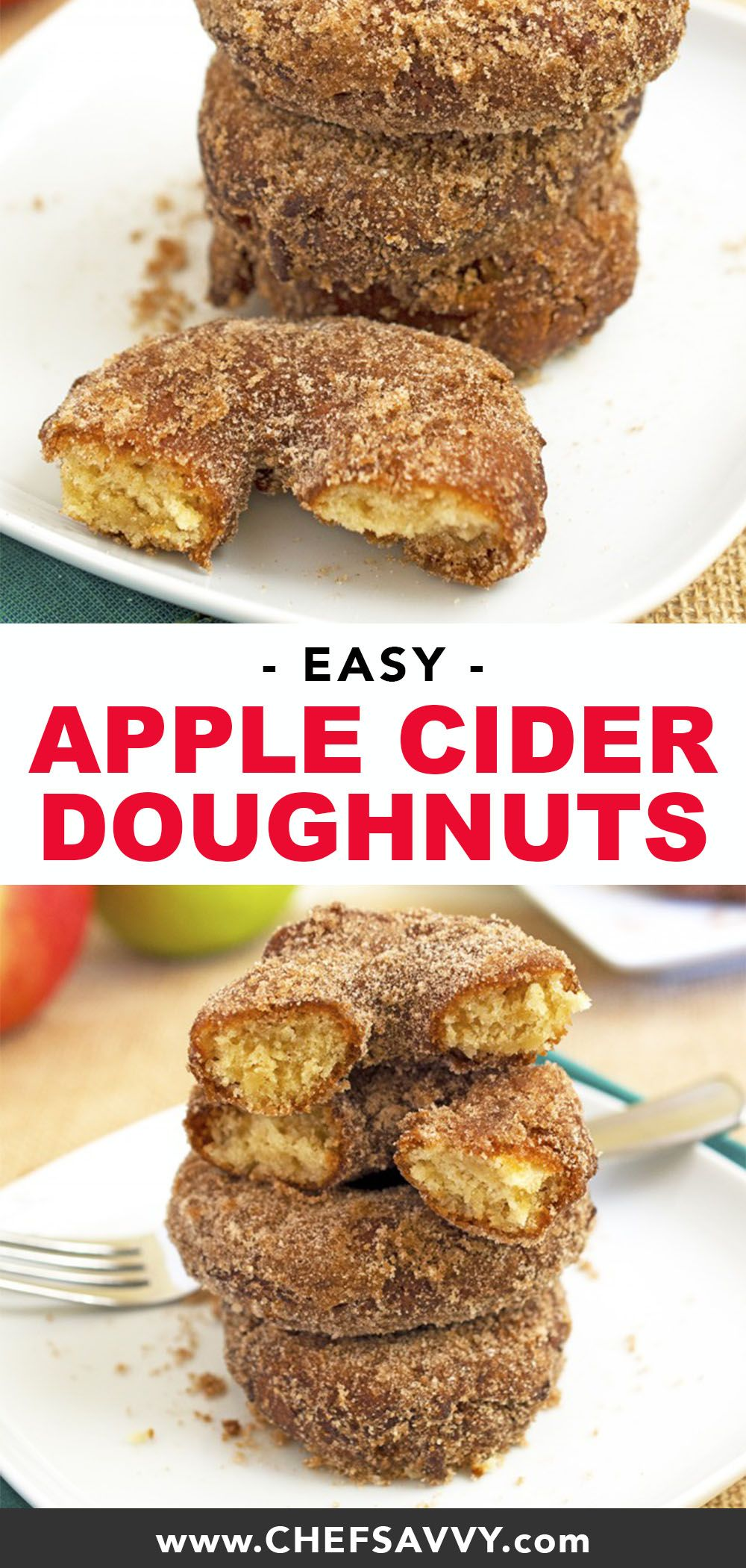 Apple Cider Doughnuts The BEST Apple Cider Doughnuts - perfect breakfast or dessert for fall! These melt in your mouth donuts are made with fresh apple cider and your favorite fall spices. The whole family will love this on a Saturday morning! |