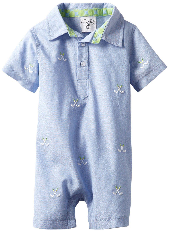 96ecdad2c4d4 Mud Pie Baby-Boy Golf Romper: Clothing   Baby / Boy Cloths   Baby ...