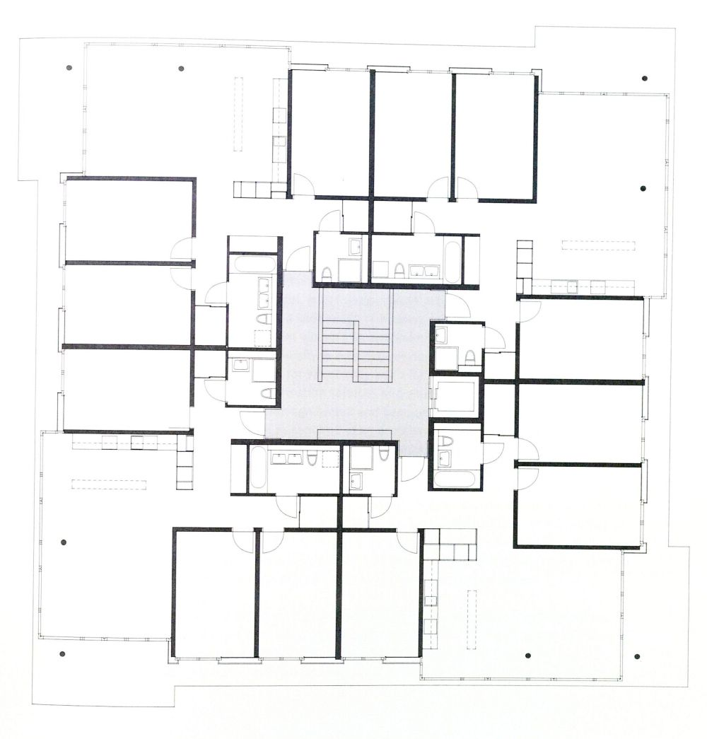 Steinacker residential complex zurich hasler schlatter for Modernes haus zurich