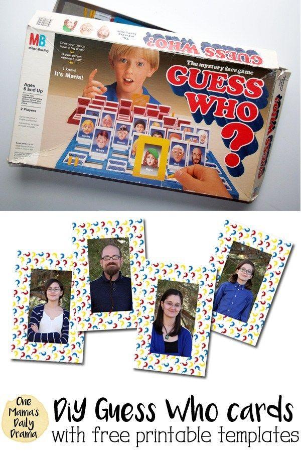 DiY Guess Who printable template Printable board games