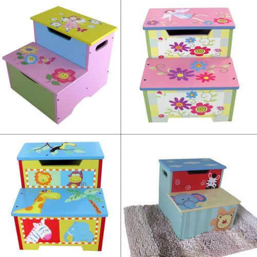 4 #patterns bn children furniture kids first #two-step stool with storage #space,  View more on the LINK: http://www.zeppy.io/product/gb/2/261650982991/