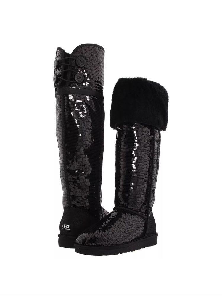 05afdeaff56 UGG AUSTRALIA Bailey Button Sequin Sparkles over the knee boots size 11   UGGAustralia  FashionOvertheKnee